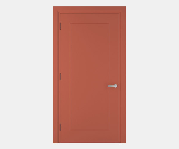 Shadbolt_Charnwood_lacquered_panelled_doors_Salmon_RAL_3022