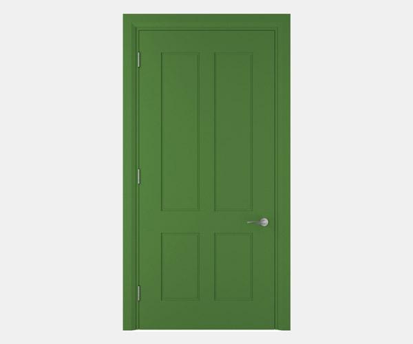 Shadbolt_Darwin_lacquered_panelled_doors_May_Green_RAL_6017