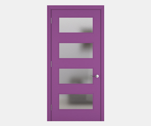 Shadbolt_Marston_lacquered_panelled_doors_with_glass_Violet_RAL_4008