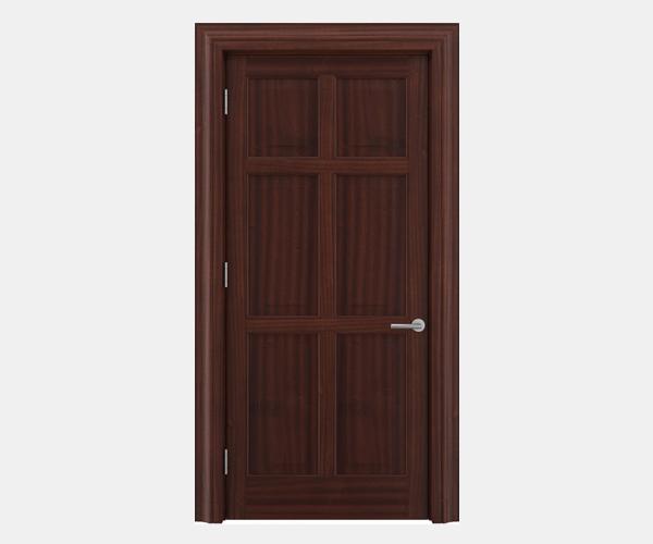 Shadbolt Timeless Type14 hardwood panelled door in Sapele Mahogany veneer